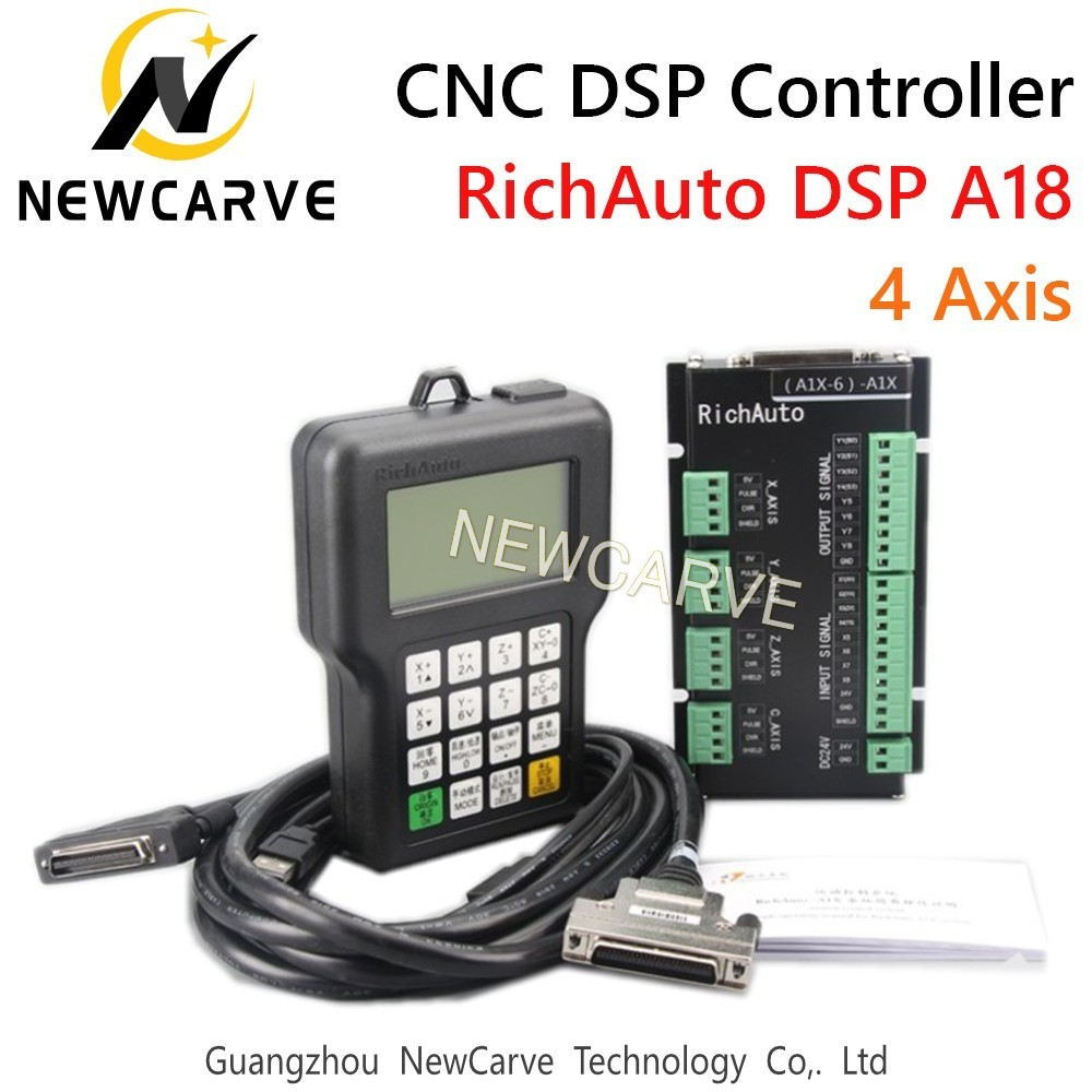 RichAuto DSP A18 4 Axis CNC Controller A18s A18e USB Linkage Motion Control  System Manual For CNC Router NEWCARVE