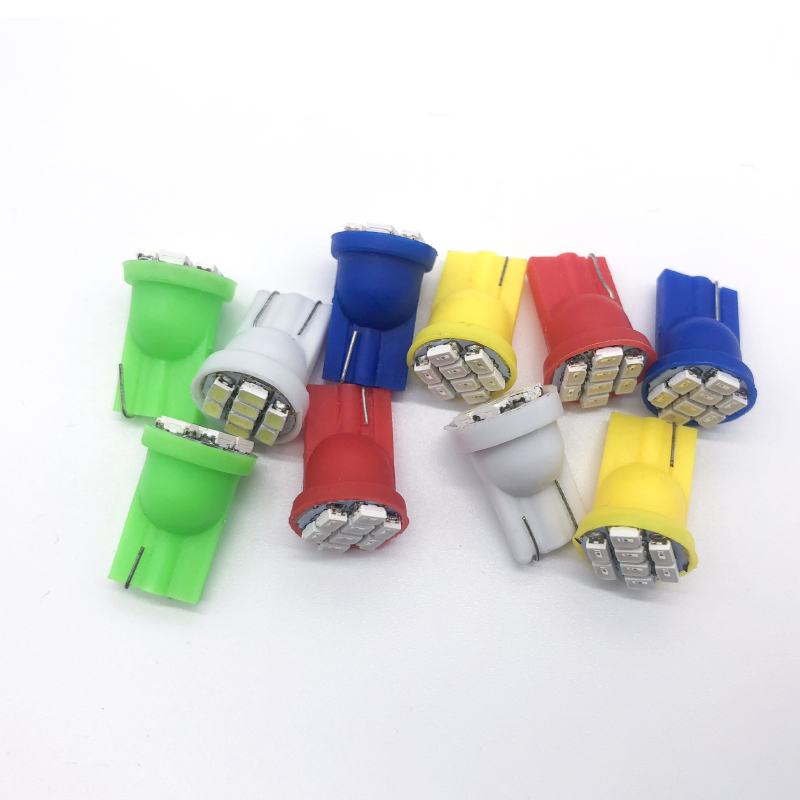 10pcs T10 Led Car Light For Auto W5W 194 168 COB 5050 Led Parking Wedge Clearance Lamps DC 12v Cold White/Blue/Green/Red/Yellow