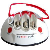 Funny Novelty Toy Miniature Electric Shock Lie Detector Entertainment 14 3 x AAA Batteries White