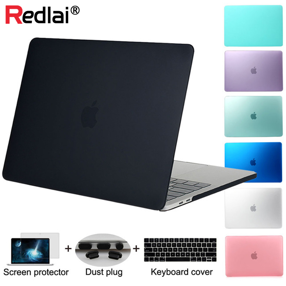 Redlai For 2016 New Macbook Pro 13 15 with Touchbar A1706 A1707 & Air 13 inch Pro 13 15 with Retina Plastic Matte Hard case hat prince protective hard case for macbook pro 15 4 inch with retina display