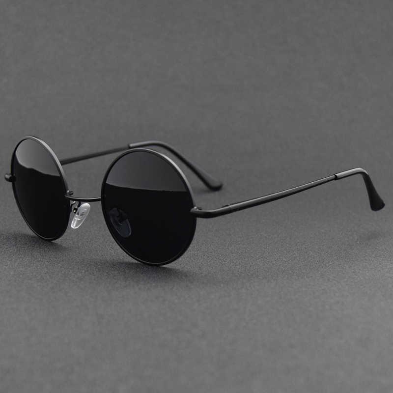 Metal Round Sunglasses Women Polarized Retro Sun Glasses for Men Driving Eyewear