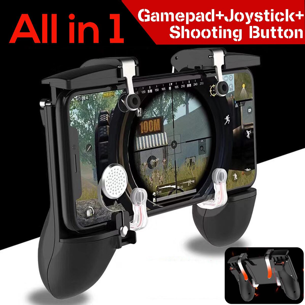 All in 1 For PUBG Mobile Phone Game Controller Game