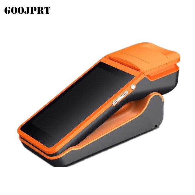 Envío Gratis POS Terminal PDA con sistema Android inalámbrico Bluetooth y Wifi con impresora térmica incorporada y escáner de código de barras
