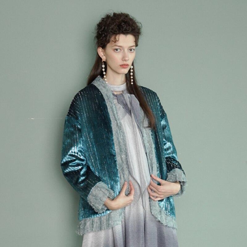 Shown Printemps As Velours eam Toutes Les Sélections Longues À Chaud Style Coton Manteau Rembourré Satnd Manches Épissage Femme Nouveau 2019 Hiver Le482 Col Sqwq1B5