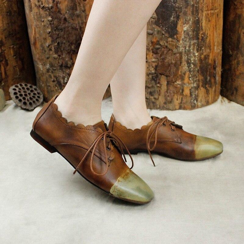 Dentelle 2019 Plat Printemps Chaussures En Camel Ballet Personnalité Femmes D'été Véritable Femelle De Slipona Makasins Cuir 8768AwCxq