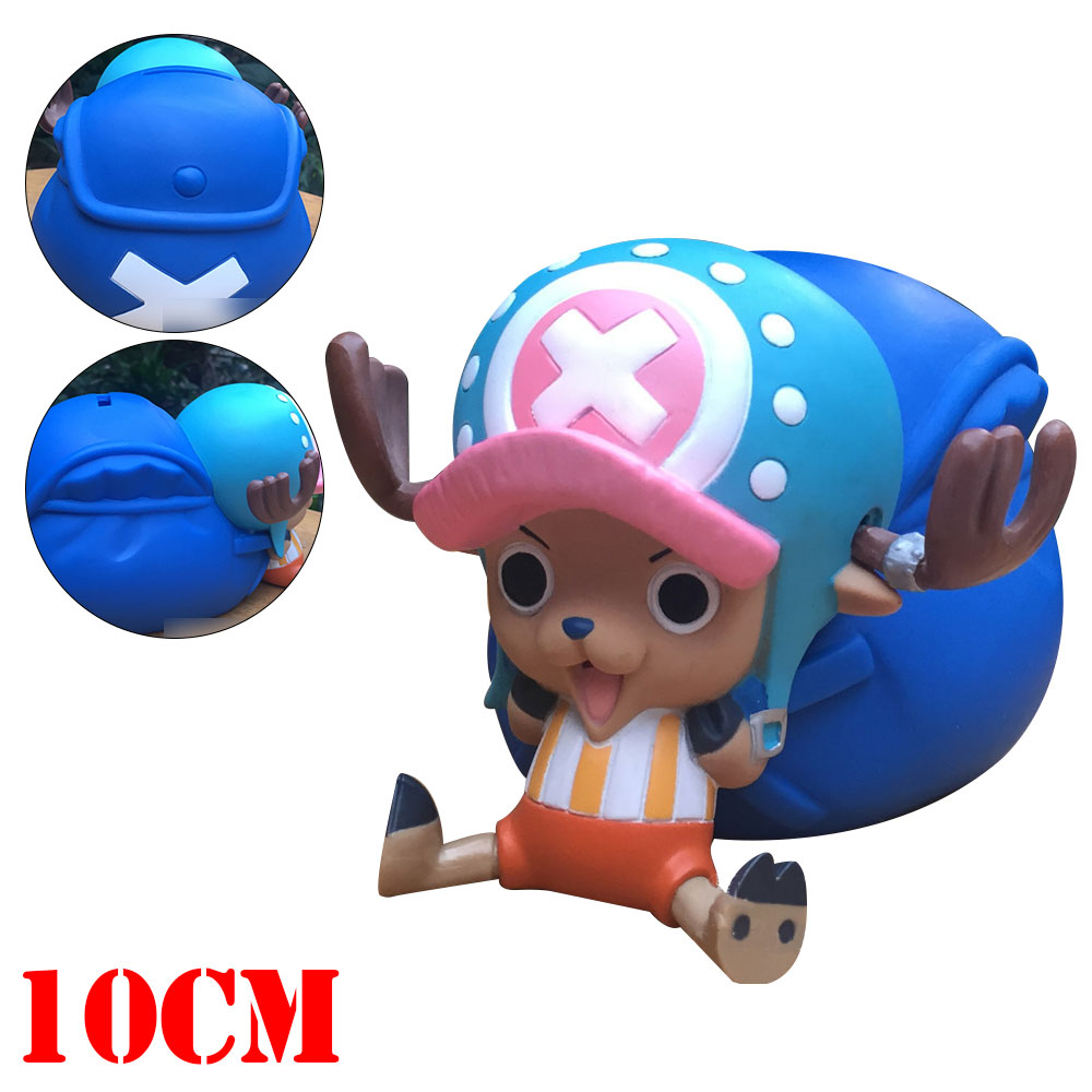 OHCOMICS 10cm Anime One Piece Luffy Chopper Coin Box Bank Piggy Money Bank Kid Child Otaku SafeMoney Bank Collectible Gifts