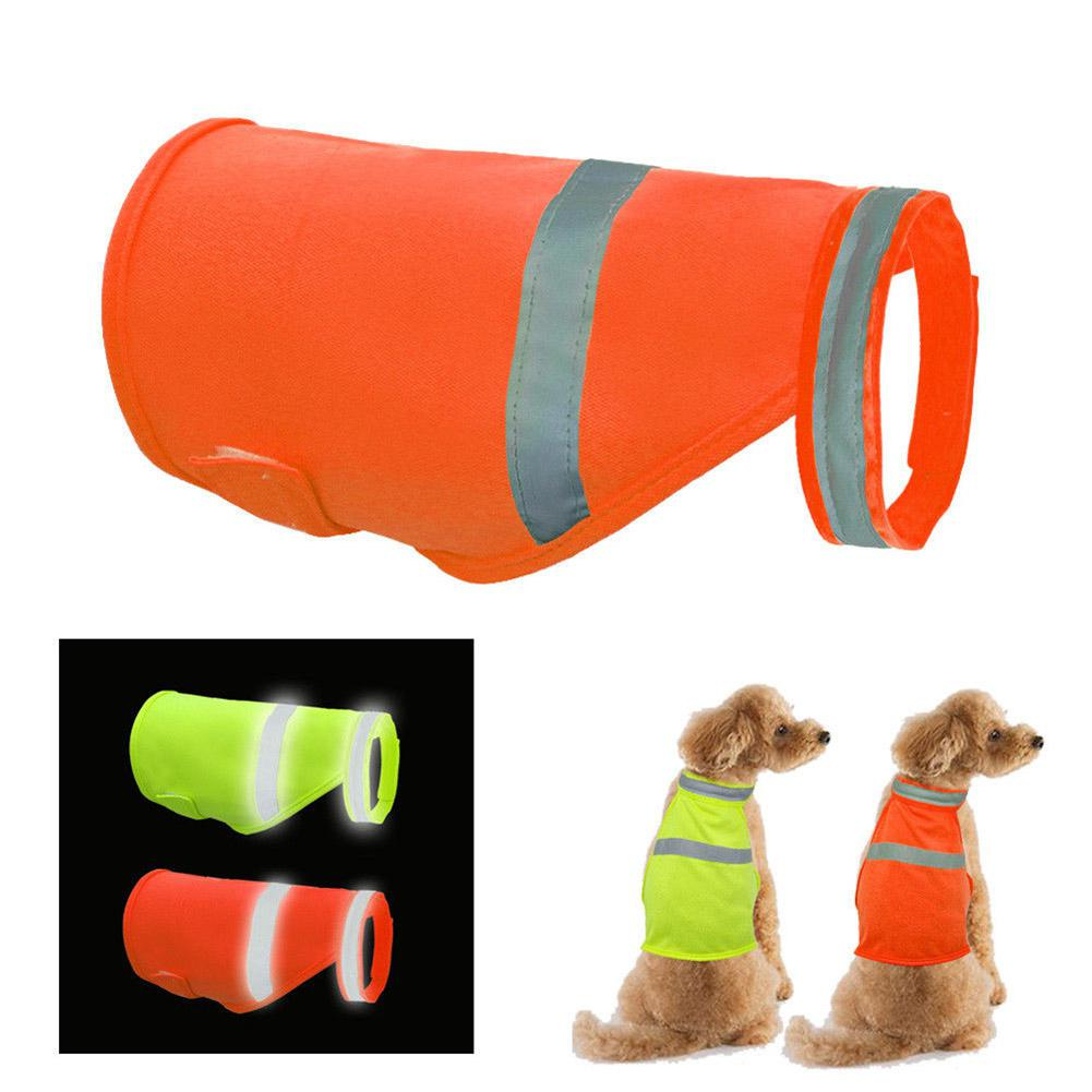 AsyPets Pet Dog High Visibility Reflective Safety Vest For Outdoor Work Walking