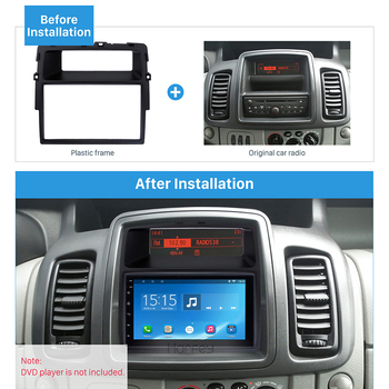 Harfey Fascia 2Din Car Stereo Frame Autoradio Panel Trim Kit for Nissan Primastar Fitting Install Plate DVD Player 173x98 mm