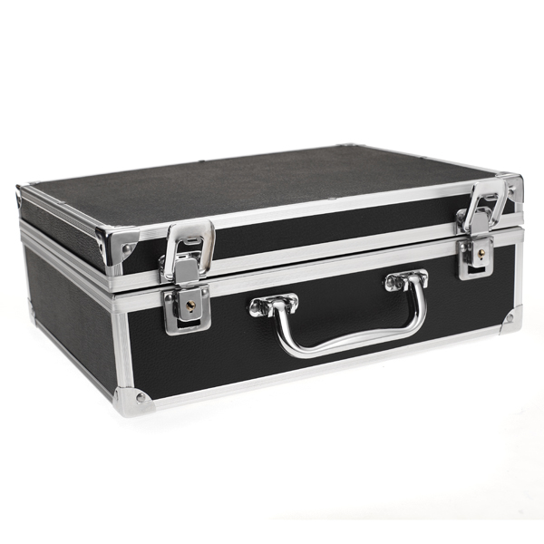 Hot Selling Large Aluminum Tattoo Kit Carrying Case Tattoo Carrying Tour Convention - Black High Quanlity