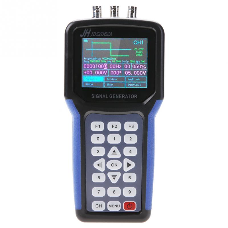 JDS2062A Handheld 30MHz 2 Channel Digital Signal Generator Multimeter Frequency Meter S4R2 AC110 220V Wholesale