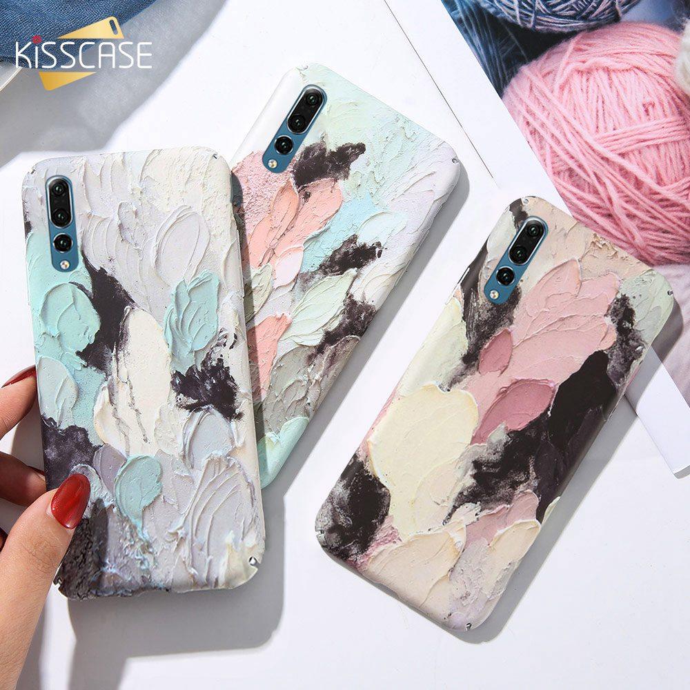 KISSCASE Case For Huawei P Smart 2019 Mate 20 P30 P20 P10 Pro Lite Plus Graffiti luminous PC Phone Case For Honor 9 10 Lite Capa