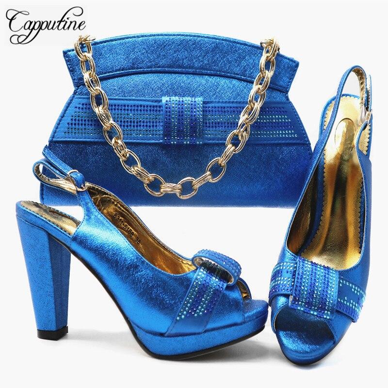 rojo Bolsa Caliente Tacón Bolso Alto Color magenta Fiesta De Venta Y Verano Azul Moda Cm Mujer Azul Diseño 10 G66 Zapatos Italiano Conjunto pwx8xgBd