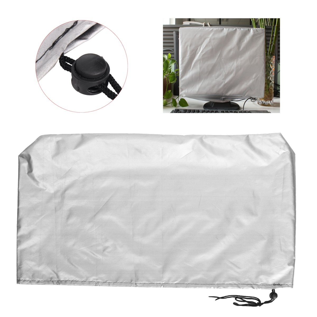 Polyester Computer Tablets Flat Screen Cover Monitor Case Dust Cover PC TV 22 Inch Laptop Protectors Soft Lining 53X35cm