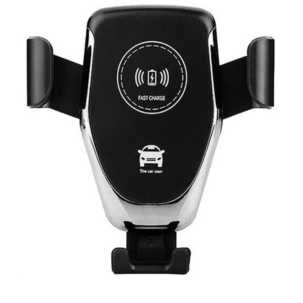 10W Car Wireless Charger Pad Auto Lock Mobile Charger Phone Holder 5V White, Black