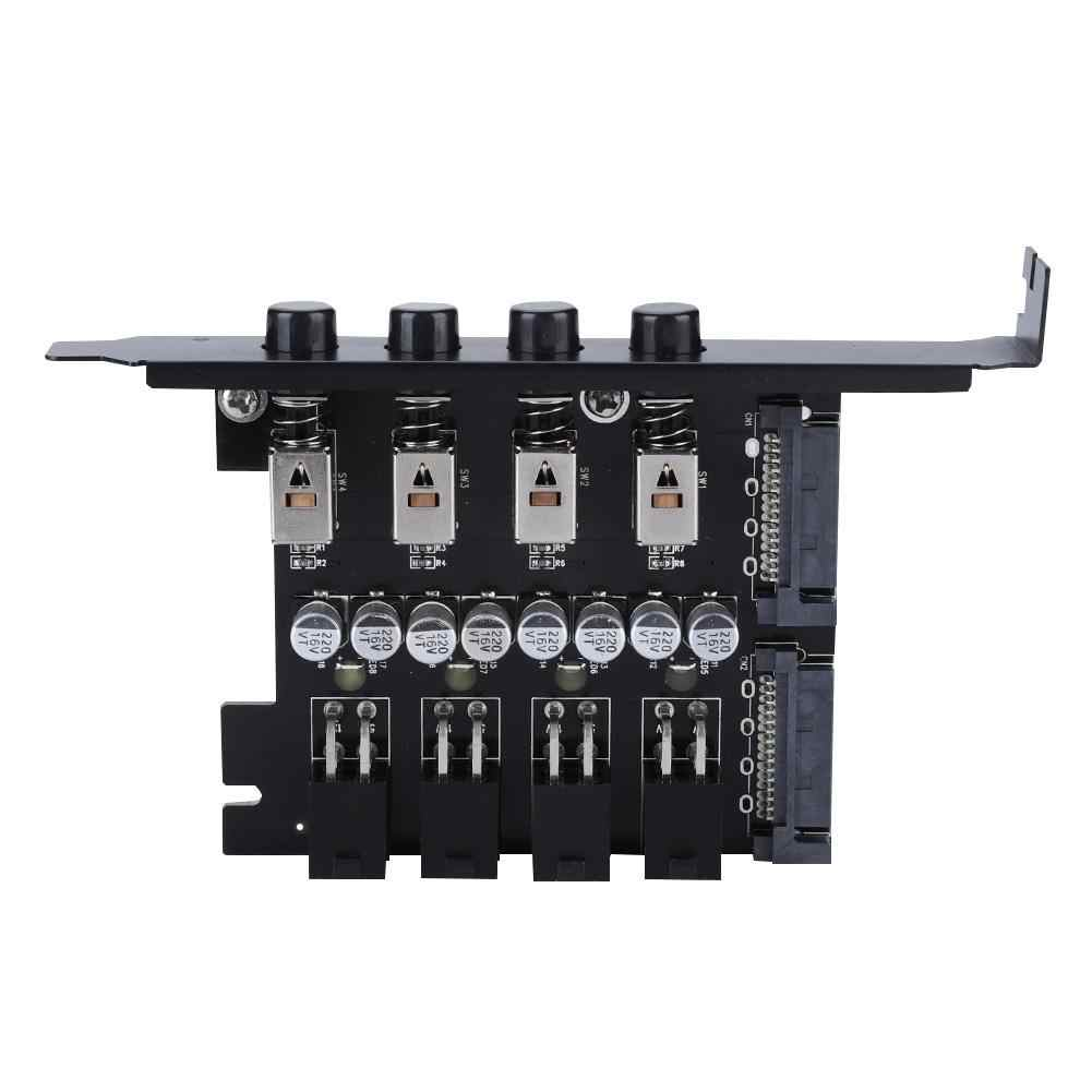 HDD Hard Drive Power Supply Switch Control Module SATA Drive Switcher for Desktop PC Computer with 4pcs 15Pin Power Supply Cable