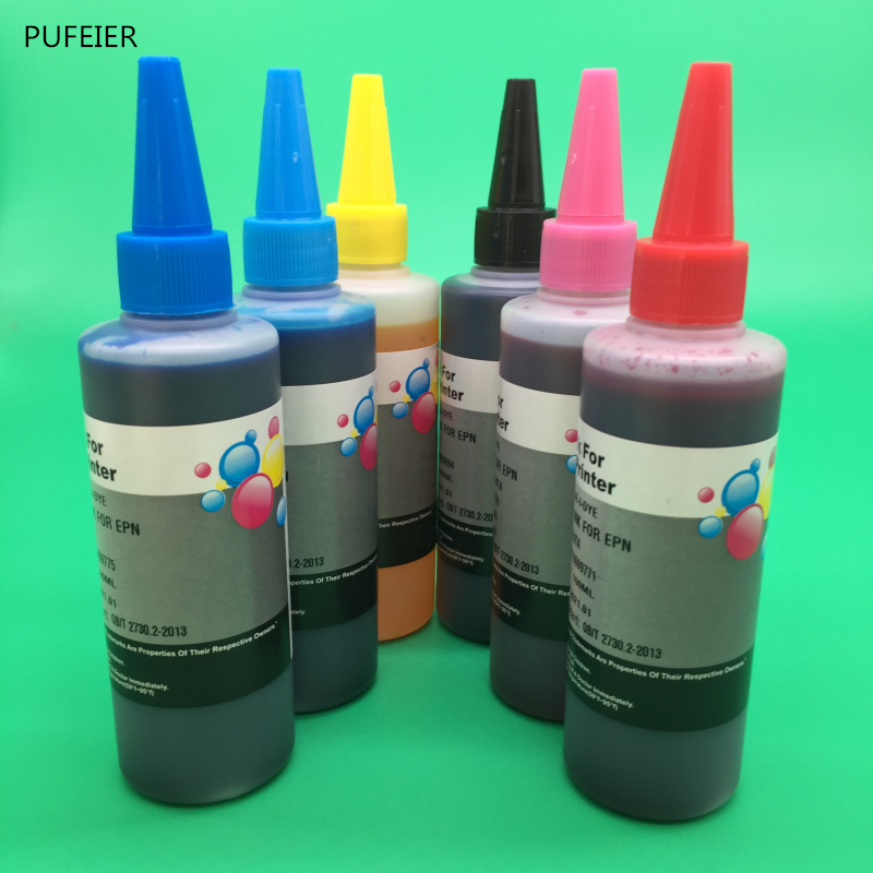 100ML x 6PCS For HP363 Dye Based Ink For HP Photosmart 8200 3100 D7300 D7100 D6100 C7100 C6100 C5100 Inkjet Printer100ML x 6PCS For HP363 Dye Based Ink For HP Photosmart 8200 3100 D7300 D7100 D6100 C7100 C6100 C5100 Inkjet Printer