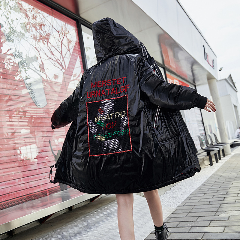 Long À Marque Manteau Rembourré Luxe Capuchon D'hiver Neige Vêtements Femmes Lulu Noir Chaud Taille Coréenne Dames Veste De Parkas Chapeau Femelle Grande Max nq6YH8f5w6