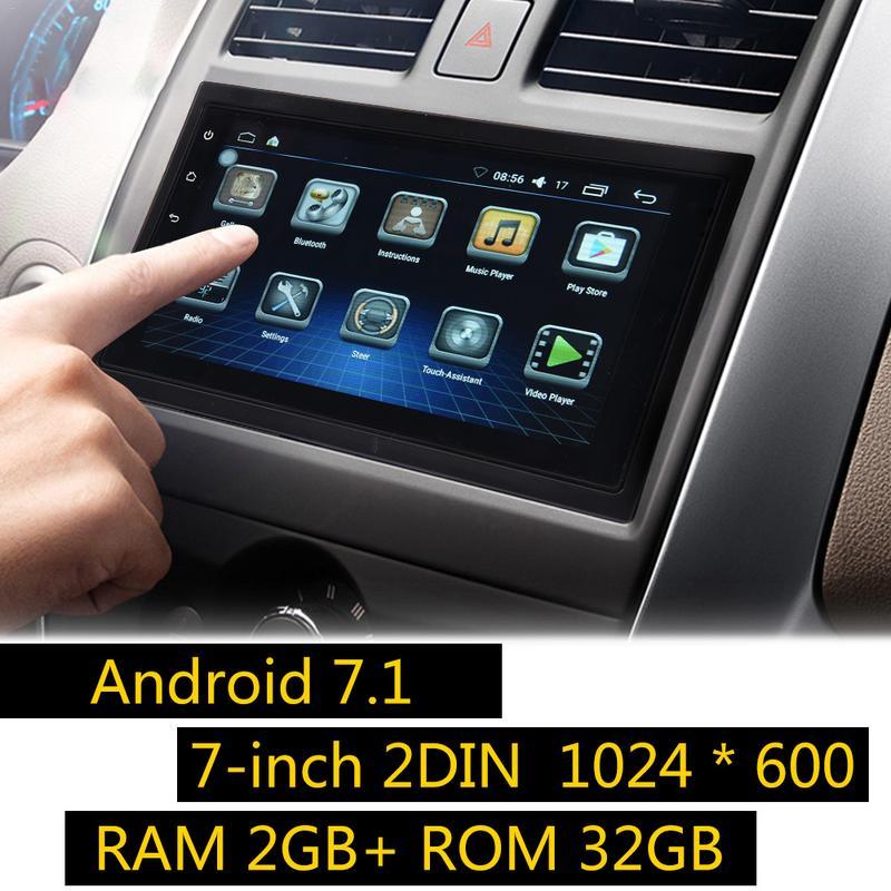 Универсальный 7 дюймовый 2DIN Android 7,1 автомобильный мультимедийный плеер gps навигатор HD Bluetooth dvd плеер Прямая доставка Горячая сал; e