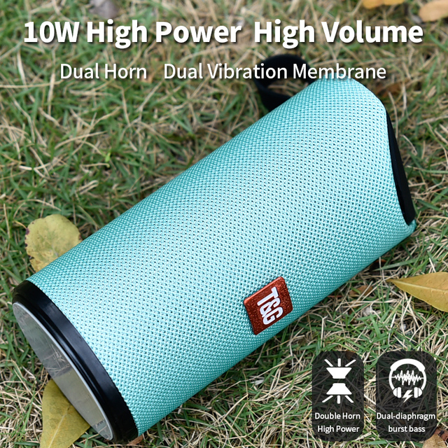 TG Bluetooth Speaker Portable Outdoor Loudspeaker Wireless Mini Column 3D 10W Stereo Music Surround Support FM TFCard Bass Box 3