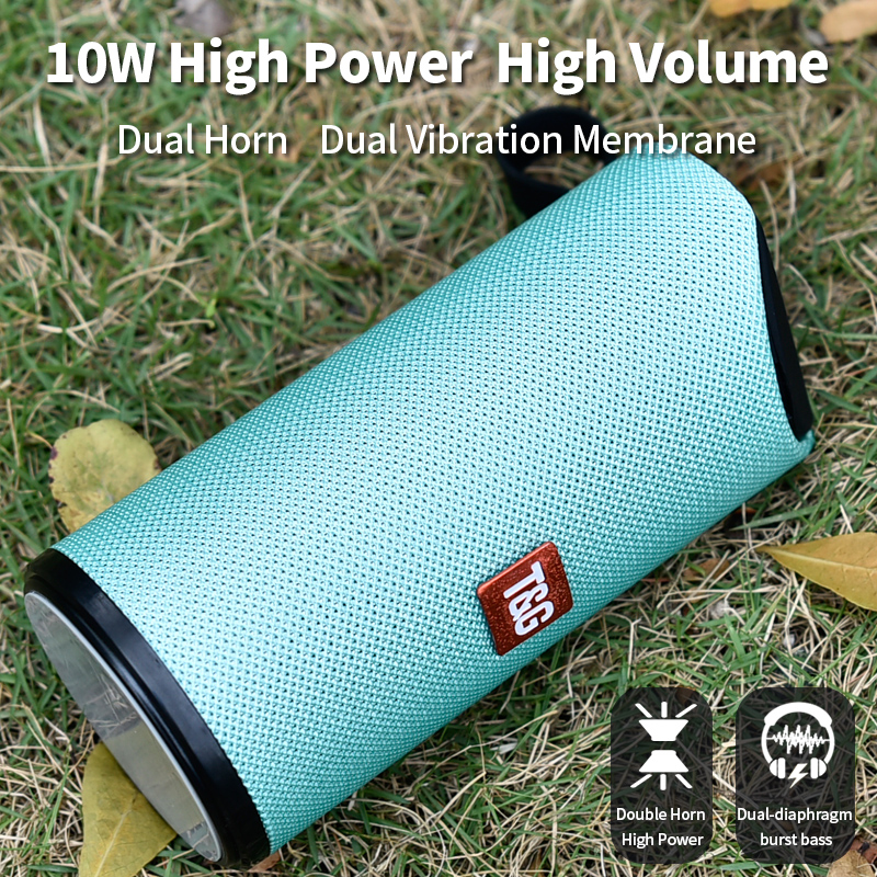 Image 3 - TG Bluetooth Speaker Portable Outdoor Loudspeaker Wireless Mini Column 3D 10W Stereo Music Surround Support FM TFCard Bass Box-in Outdoor Speakers from Consumer Electronics