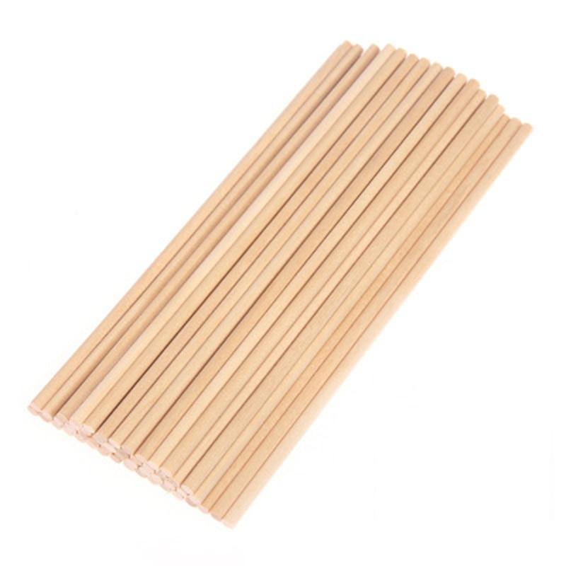 50pcs 10/15/20*0.5cm Round Natural Wooden Lollipop Lolly Sticks Cake Dowel For DIY Food Craft
