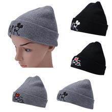Children Hat for Girls Boys Soft Winter Warm Hat MR MRS Knitted Beanie Caps Cute Kids