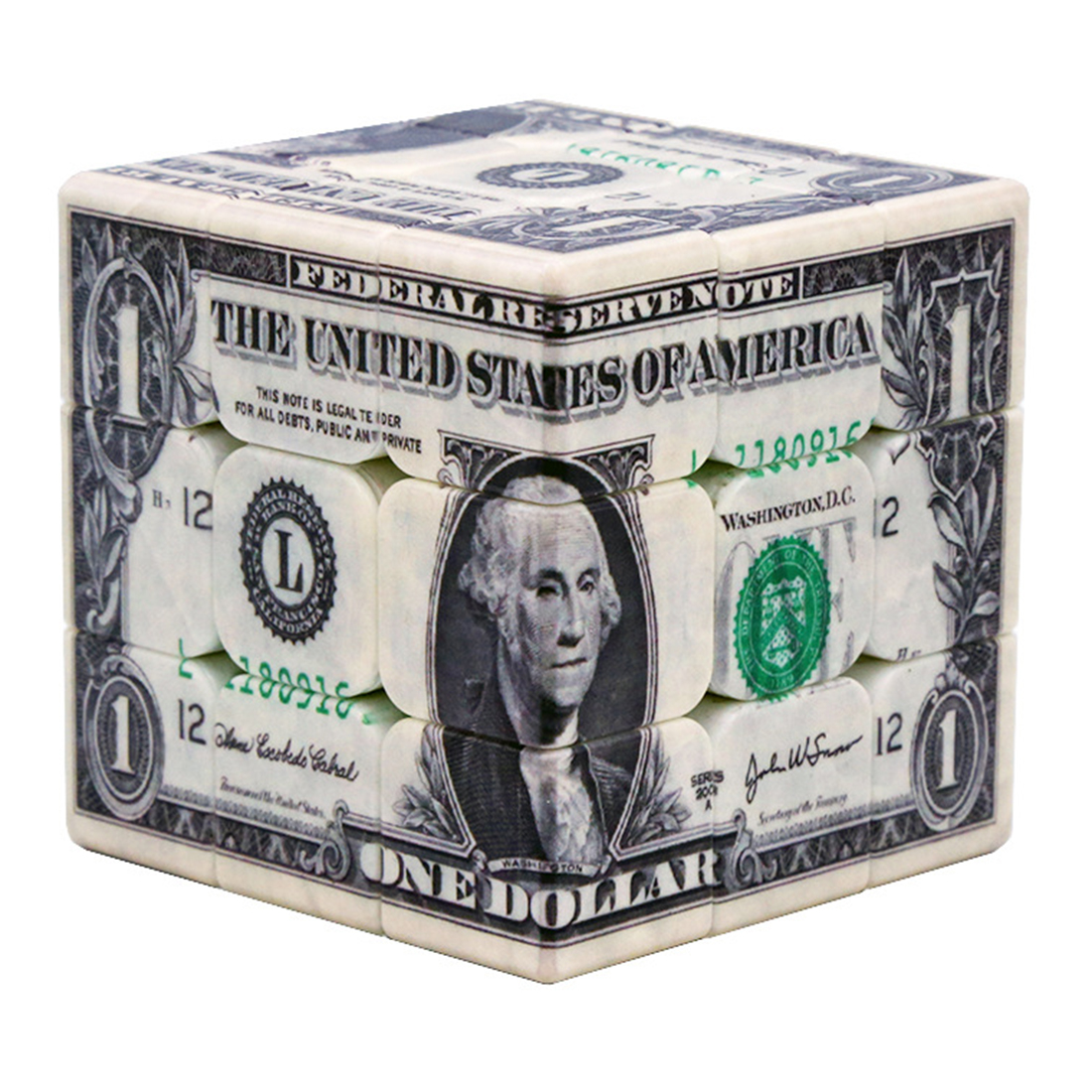 UV Printing Dollar Pattern 3x3x3 Magic Cube Speed Cube Puzzle Toy For Brain Trainning