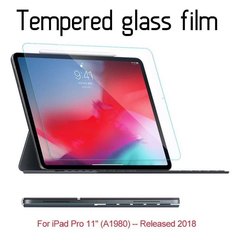 "Screen Protector Tempered Glass Film for Apple iPad Pro 11/"" 2018"