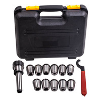 For Precision ER32 Collet Set MT3 Shank Chuck & Spanner W/ Box For Milling Machine sale