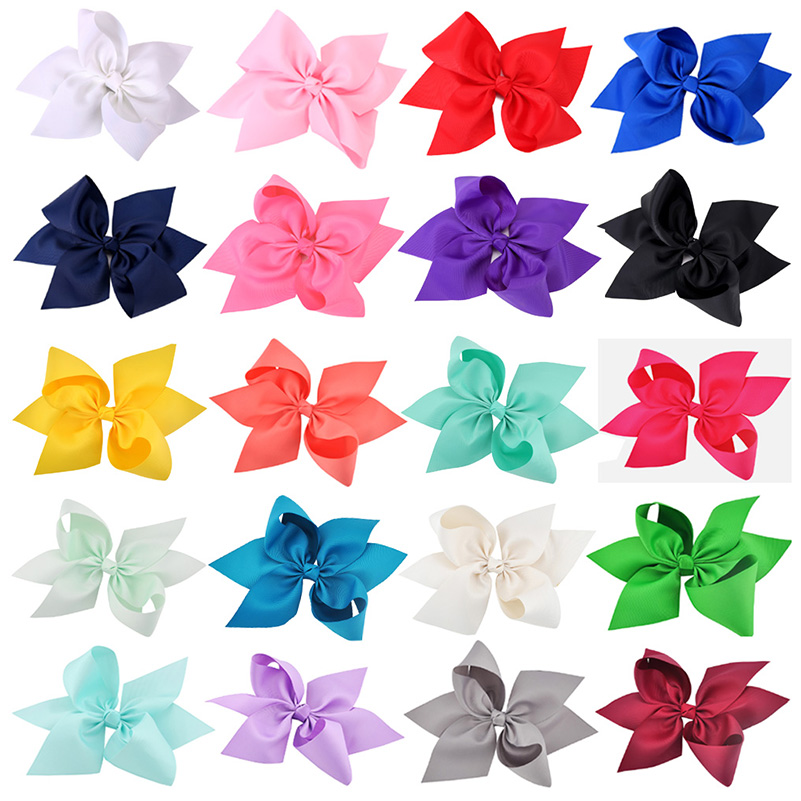 20 Pcs/lot 10 Inch Girls Hair Bows Cute Ribbon Bowknot Headwear For Children Baby Hairpins Kids Hair Accessories