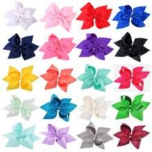 20 Pcs/lot 10 Inch girls hair bows cute ribbon bowknot headwear for children baby hairpins kids hair Accessories