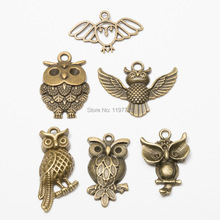 Owl Charms 10pcs Antique bronze Color night Owl animal Charms Pendants for Bracelets Small Owl Charms Making Jewelry owl