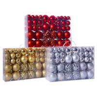 100Pcs/bag Decoration Home Ball Bauble Gift Ornament Party Christmas Tree Hanging pandents DIY props