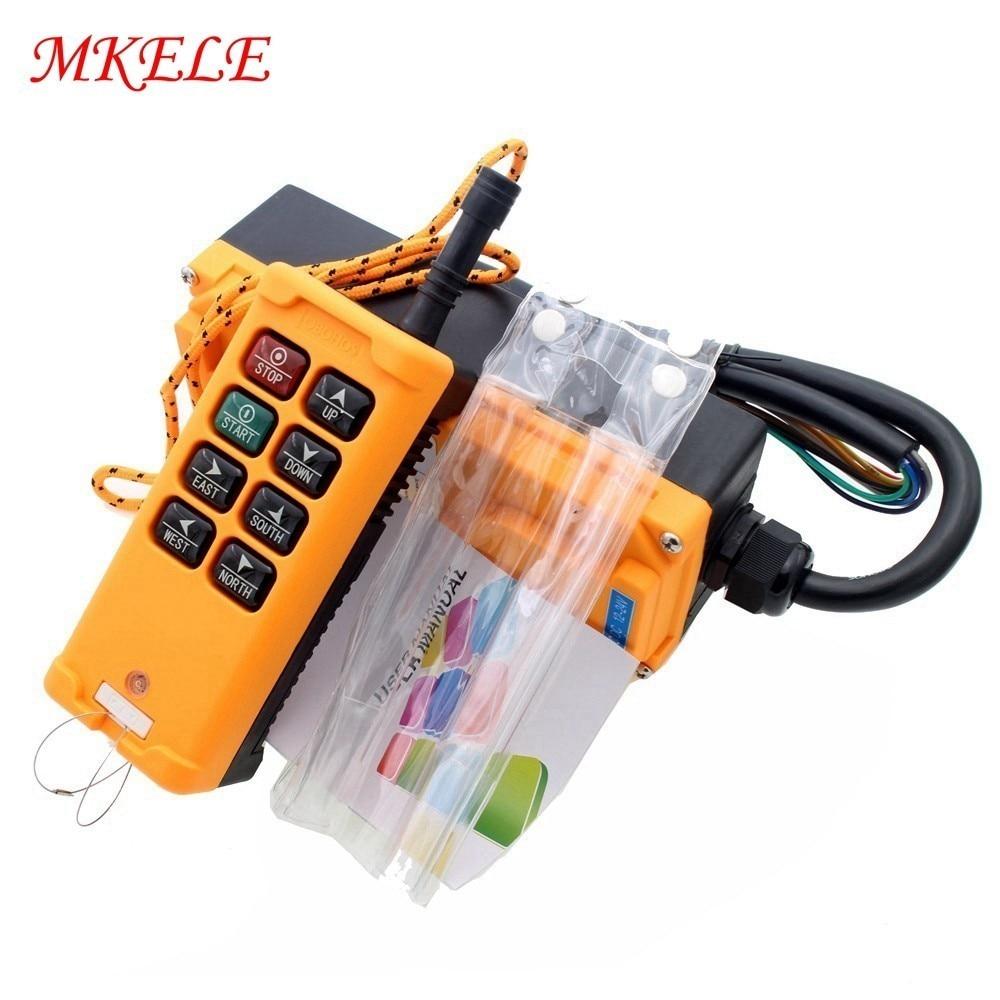 Industrielle télécommande Commutateurs grue de levage de Levage De la Grue 1 Émetteur + 1 Récepteur DC12/24 V AC110/220/ 380 V 8 Touches