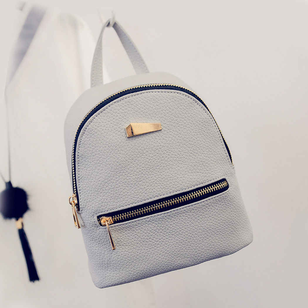 Mochilas Mulher 2019 Mini Mochila de Couro Feminino Cor Sólida Backbag Mochila Schoolbag Bookbag Mochila Presente Para As Meninas