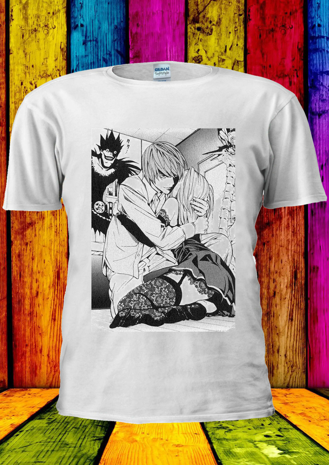 Death Note Light Misa Anime Manga T-shirt Vest Men Women Unisex 353 Cartoon T Shirt Men Unisex New Fashion Tshirt High Quality Materials Tops & Tees