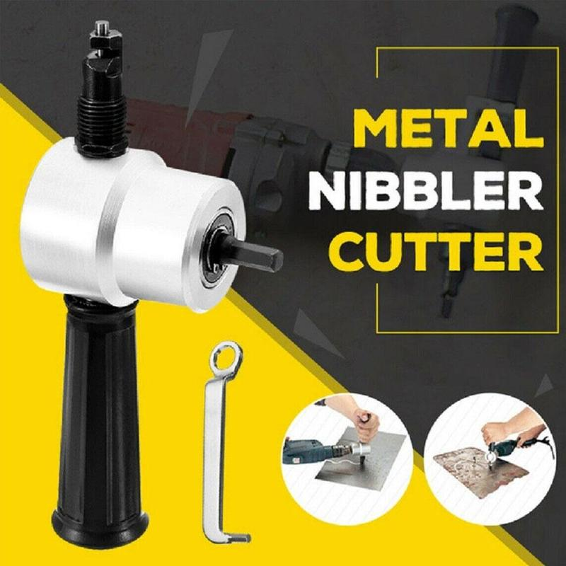 1PC Electric Double Head Sheet Metal Cutting Nibbler Saw Cutter Drill Attachment HOT1PC Electric Double Head Sheet Metal Cutting Nibbler Saw Cutter Drill Attachment HOT