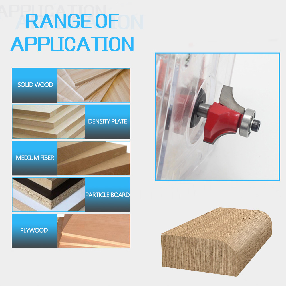 Image 5 - 1/4 inch Round Shank Carbide Router Bit Straight End Mill Trimmer Round Corner Cleaning Flush Trim Tool Milling Cutter-in Milling Cutter from Tools