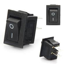 10Pcs/Lot KCD11 10*15mm High Quality Snap-in On/Off Position Snap Boat Rocker Button Switch 3A/250V(China)