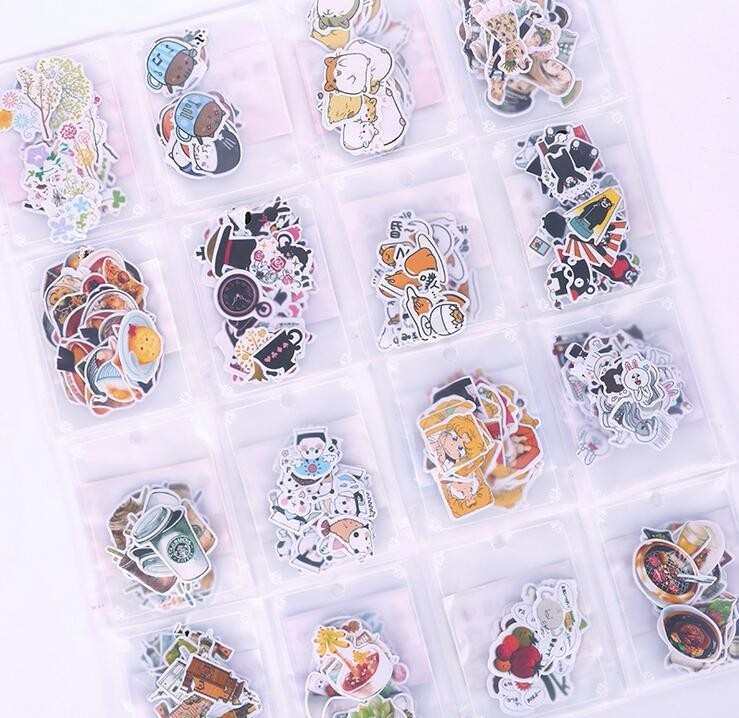 1 Pack Cute New Cartoon Expression Animal Sticker Children Stationery For DIY Albums Scrapbooking Diary Decoration Depicting