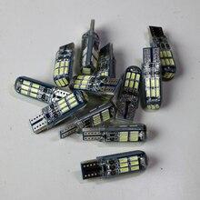 100 шт./лот T10 16SMD синий доска 3 излучающей поверхности W5W 3014 Светодиодный Клин sinicone лампочки белый высокий