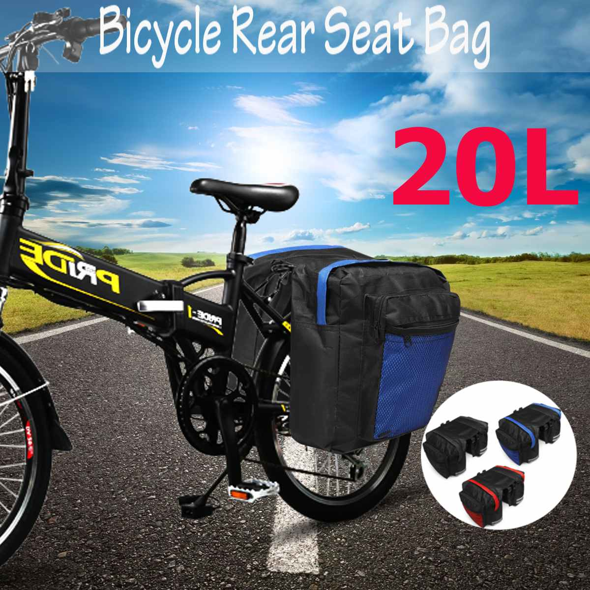 600D Waterproof Fabric Cycling Bicycle Rack Rear Seat Tail Carrier Bag Pouch