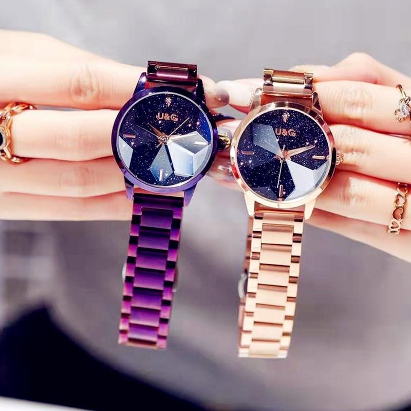 Top Brand Watches For Women Starry Quartz Watch Geometric Surface Casual Wrist watch
