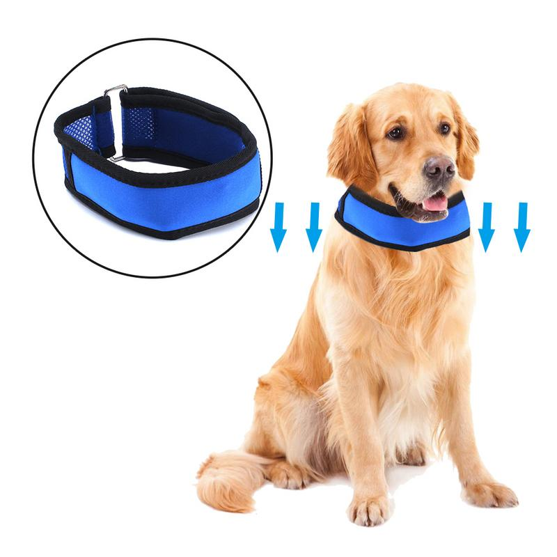 Pet Cooling Collar Dog Adjustable Chain Cooling Collar with Removable Gel Pack