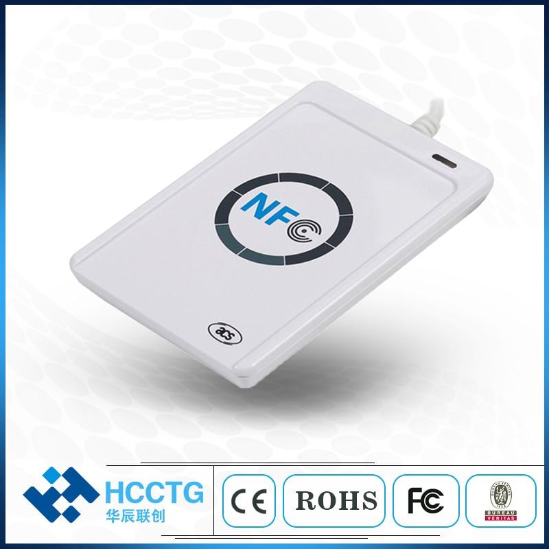 Promotion USB ACR122U NFC RFID lecteur de carte à puce écrivain pour tous les 4 types de NFC S50 keysTags + 5 pièces M1 cartes