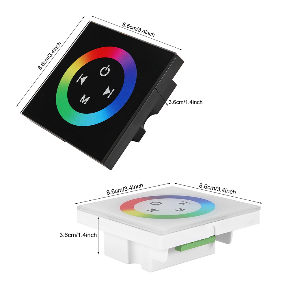 Flexible Controller Wall Mounted Colorful RGB LED Touch Panel Controller Dimmer Switch for LED Strip Light led strip rgb in RGB Controlers from Lights Lighting