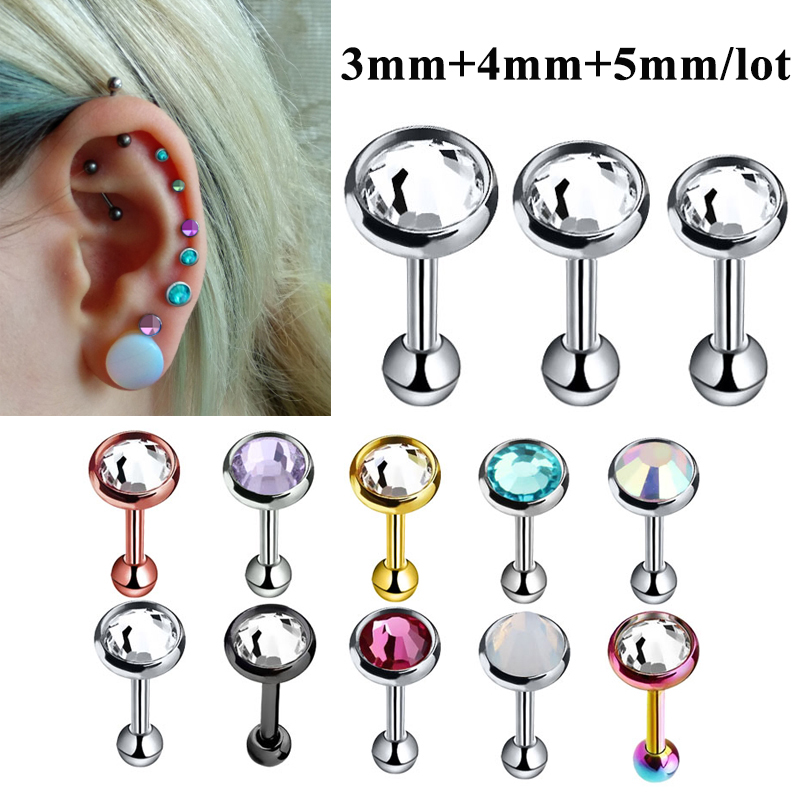 Black-Tone 316L Surgical Steel Septum Clicker Helix Nose Ring Ear Cartilage Black Choose Your Size 16G