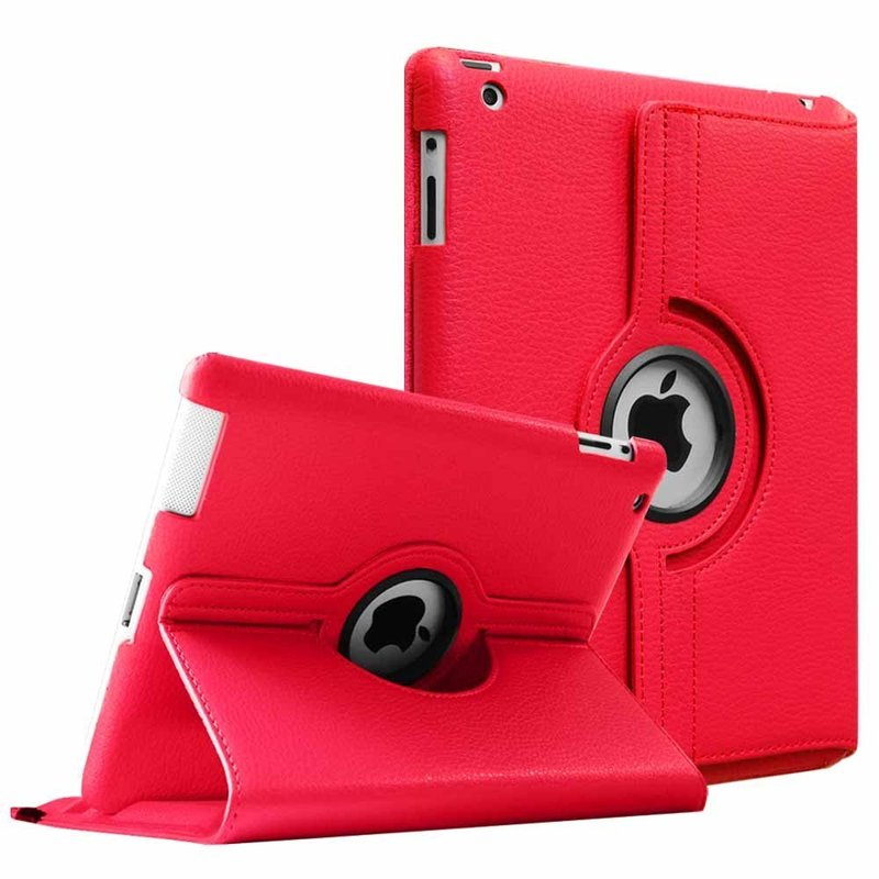 For iPad 2 3 4 Case 360 Degrees Rotating PU Leather Cover for Apple iPad 2