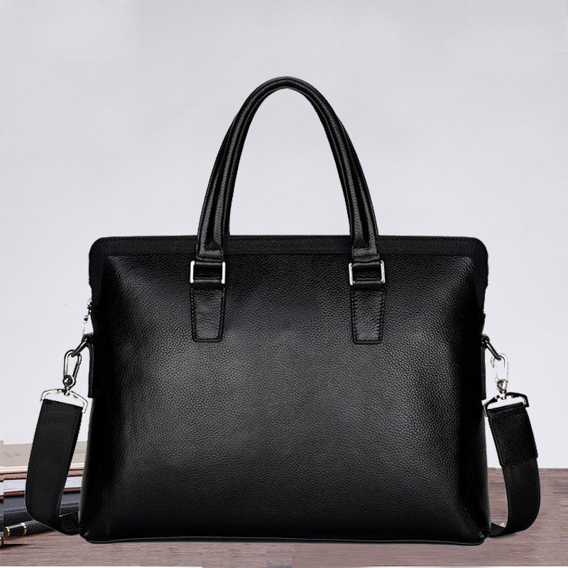 Luxury 100% Cow Genuine Leather Business Mens Briefcase Male Shoulder Bag Brand Design Men Messenger Bag Tote Computer BagLuxury 100% Cow Genuine Leather Business Mens Briefcase Male Shoulder Bag Brand Design Men Messenger Bag Tote Computer Bag