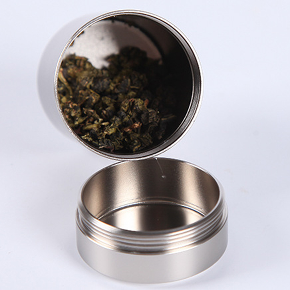 New Airtight Smell Proof Container New Aluminum Herb Stash Jar Random Colors Wholesale Drop Shipping